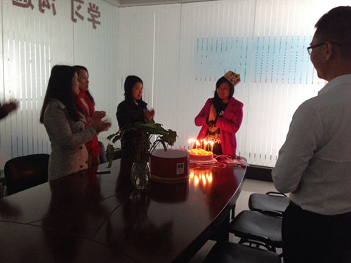 台湾TECO东元电机事业部同事生日会现场